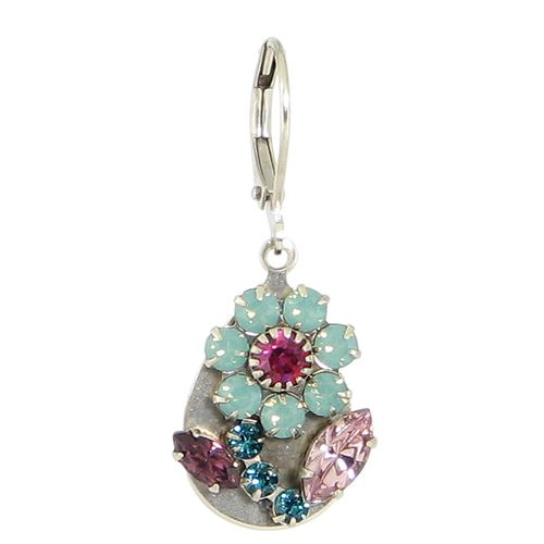 Crystal Flower Teardrop