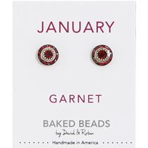 January Birthstone Crystal Disc Earrings