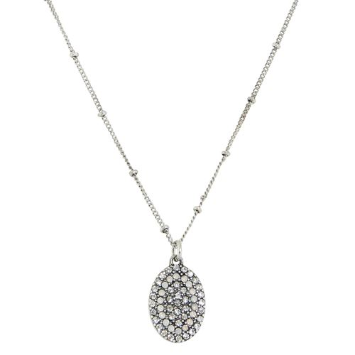 Pave Crystal Oval