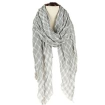 Crinkled Check Scarf