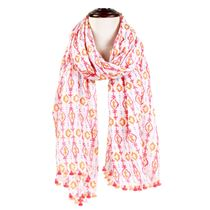 Abstract Tassel Scarf
