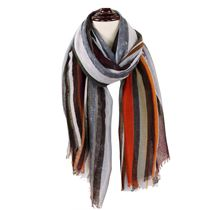 Striped Fringe Scarf
