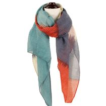 Pleated Abstract Scarf