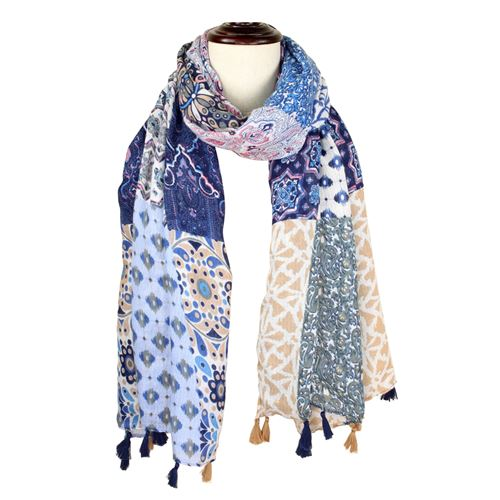 Patchwork Print Scarf