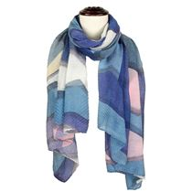 Pleated Print Scarf