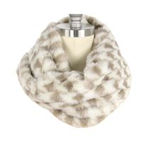 Houndstooth Fur Tube