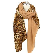 Pleated Leopard Scarf