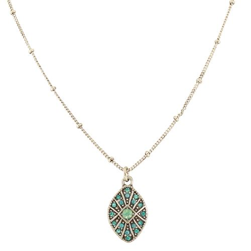 Pave Oval Necklace