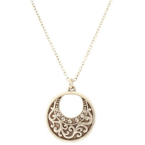 Scroll Hoop Necklace